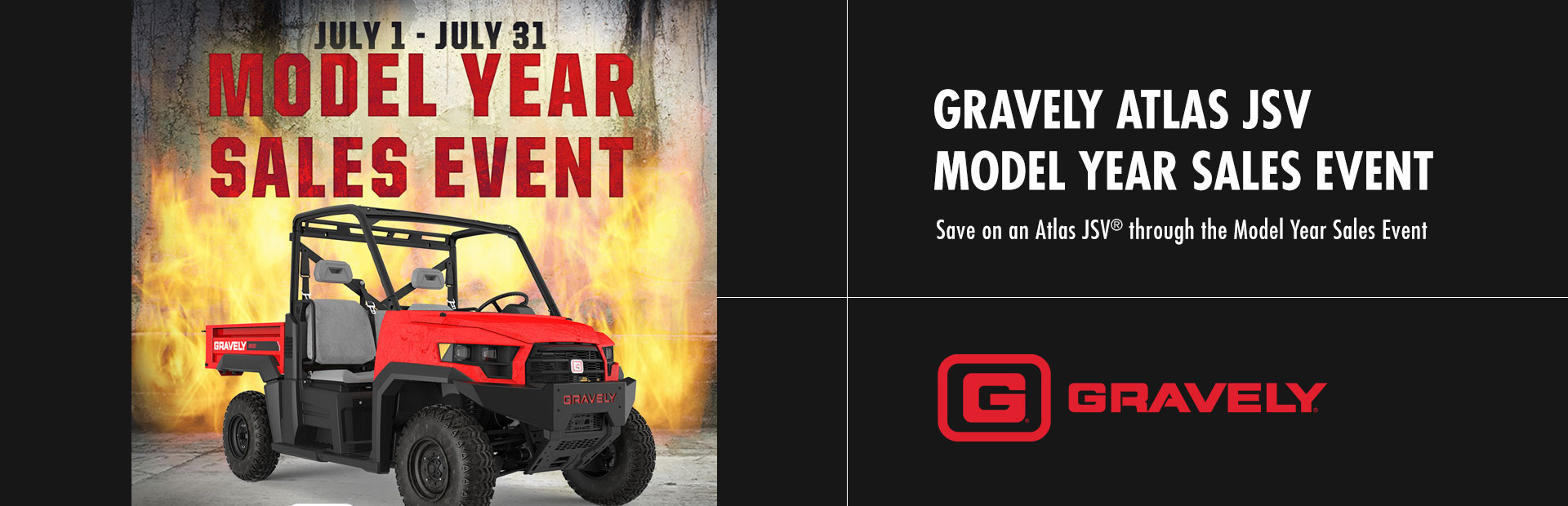 Gravely: Gravely Atlas JSV Summer Sales Event